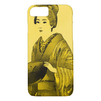 Japanese Woman Gold iPhone 7 Case
