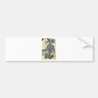 Japanese Woman in beautiful Kimono circa 1820 Bumper Sticker