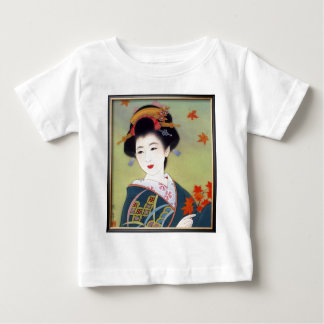 Japanese woman in blue kimono baby T-Shirt