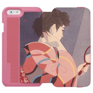 Japanese Woman in Kimono Holding A Hand Mirror Incipio Watson™ iPhone 6 Wallet Case