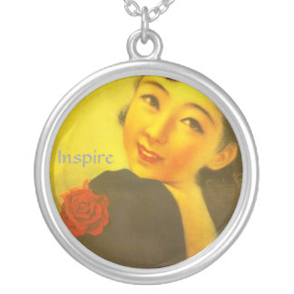 japanese woman neckless silver plated necklace