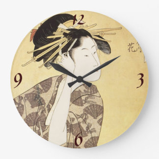 Japanese Woman  Wall Clock