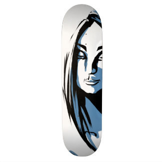 Japanese woman with winter kanji skate decks