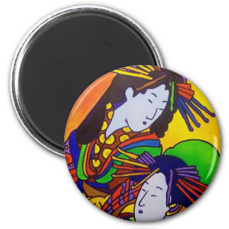 Japanese Women 5 by Piliero 2 Inch Round Magnet