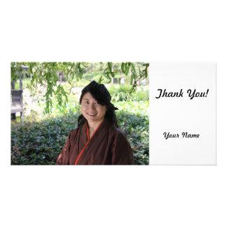 Japanese Women Customized Photo Card
