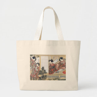 Japanese Women Large Tote Bag