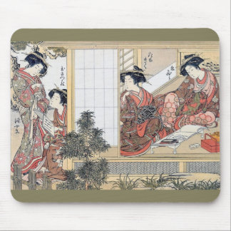Japanese Women Mouse Pad