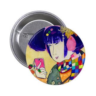 Japanese Wood Art of Modern Fashion Pin