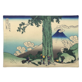 Japanese Woodblock: Mishima Pass in Kai Province Placemat