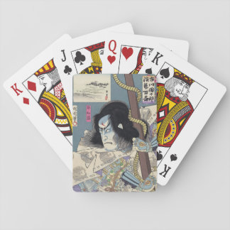 Japanese Woodblock Print by Kunichika Playing Cards