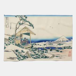 Japanese Woodblock: Tea House at Koishikawa Towel