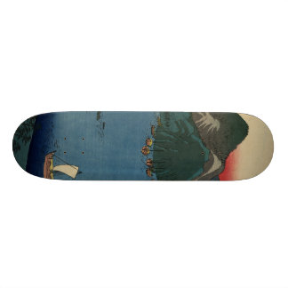 Japanese Woodcut #1 Custom Skateboard