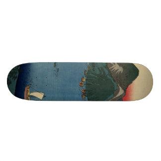 Japanese Woodcut #1 Custom Skateboard