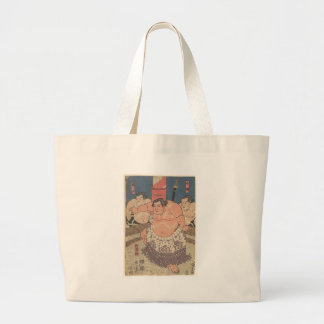 Japanese Woodprint 5 Large Tote Bag