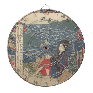 Japanese Woodprint Dartboard