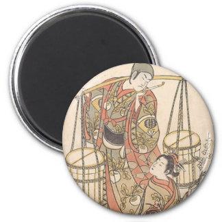 Japanese Woodprint Magnet