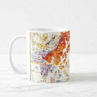 Japanese World Map 1800 Coffee Mug