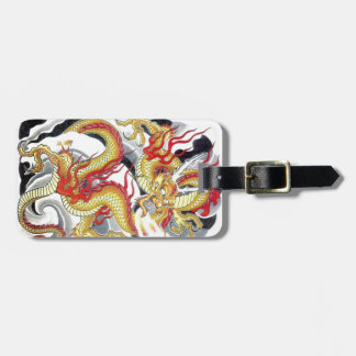 Japanese Yellow Dragon Luggage Tag