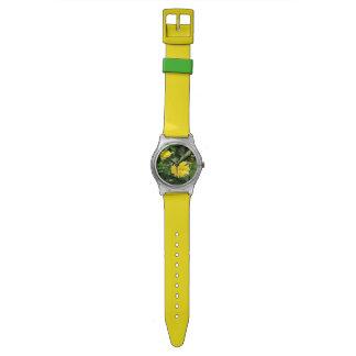 Japanese Yellow Rose Flower Kerria Japonica Wrist Watch