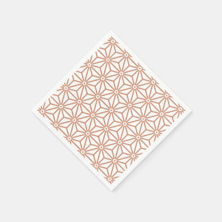 Japanese Yukata Jinbei Asanoha ensyucha Paper Napkin