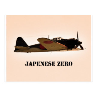 Japanese Zero World War 2 Aircraft Postcard
