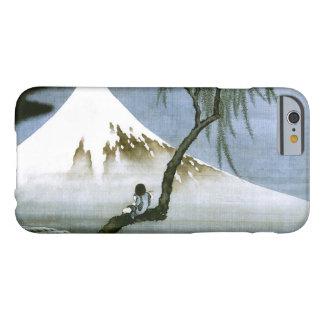 Japonais vintage de garçon et de mont Fuji de Coque Barely There iPhone 6