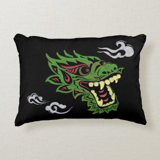 Japonias dragon accent pillow