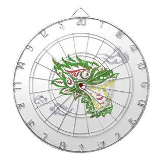 Japonias dragon dartboard with darts