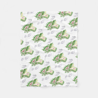 Japonias dragon fleece blanket