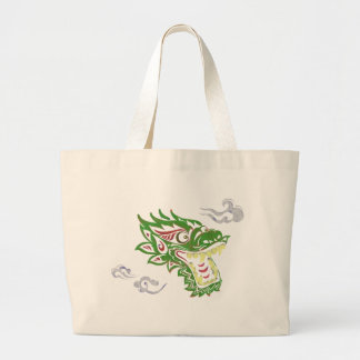 Japonias dragon large tote bag
