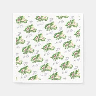 Japonias dragon paper napkin