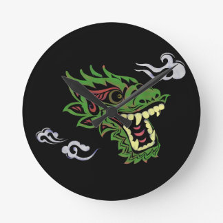Japonias dragon round clock