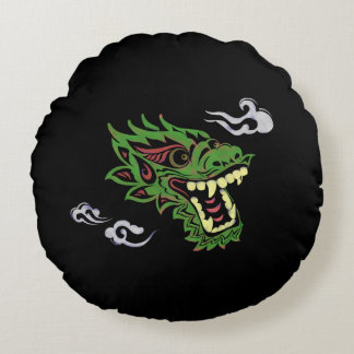 Japonias dragon round pillow