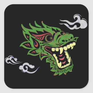 Japonias dragon square sticker