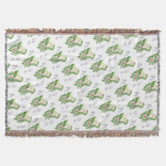 Japonias dragon throw blanket