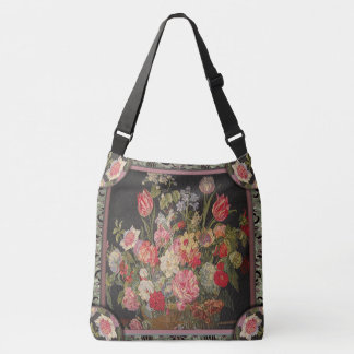 Jaquesbloom Victorian Floral Pretty Pattern Crossbody Bag