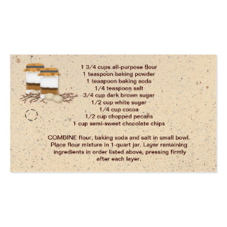 Jar Cookie Mix Hang Tag Pack Of Standard Business Cards
