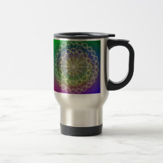 Jar for hot drinks with geometira sacred travel mug