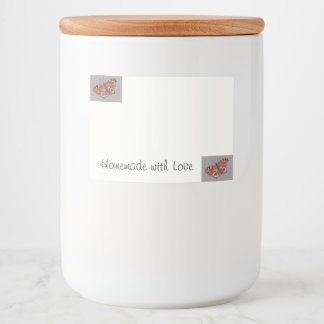 Jar Label with Peacock Butterfly Design