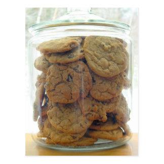 Jar of Chocolate Chip Cookies Photography Postcard