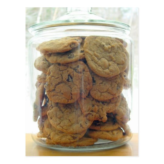 Jar of Chocolate Chip Cookies Photography Postcard