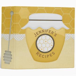 Jar of Honey Recipe Binder