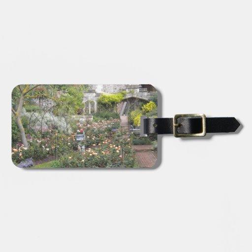 Jardin anglais étiquettes à bagages