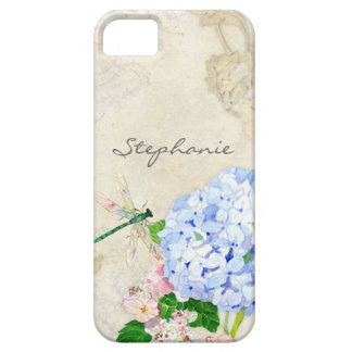 Jardin anglais, aquarelle rose bleue d'hortensias  coques iPhone 5