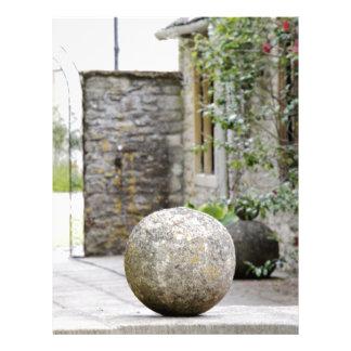 Jardin anglais - boule en pierre en-tête de lettre customisable