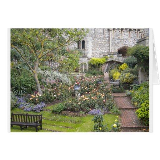Jardin anglais carte de vœux