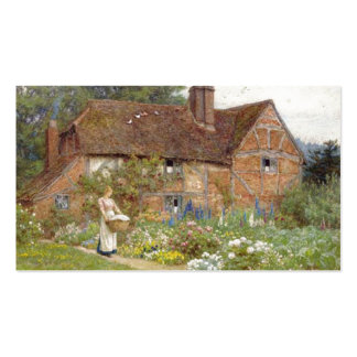 Jardin anglais carte de visite standard