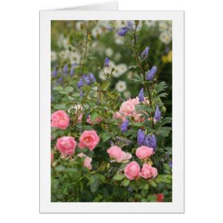 Jardin anglais de cottage carte de vœux