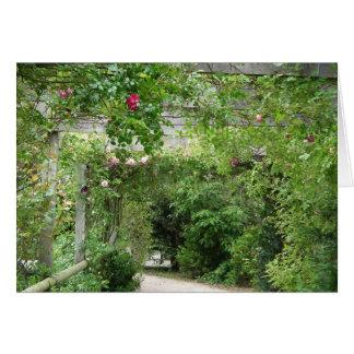 Jardin anglais de pays carte de vœux
