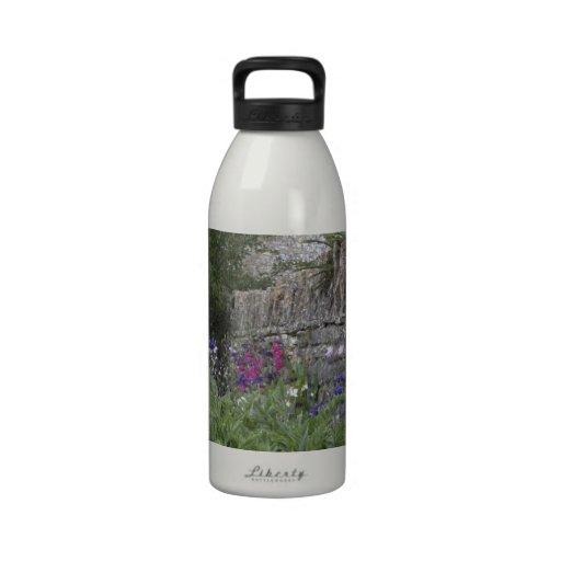 Jardin anglais - église bouteilles d'eau